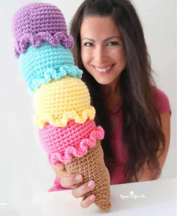 crochet ice cream free crochet pattern