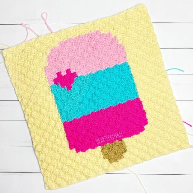 Crochet popsicle