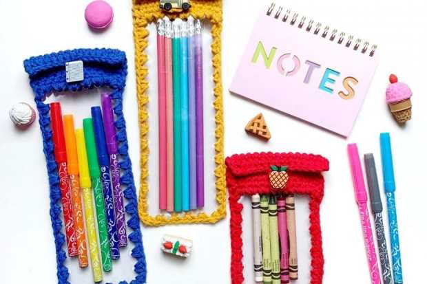 It's back-to-school time! Crochet fun teacher gifts or school supplies with this list of 22 free back-to-school crochet patterns.