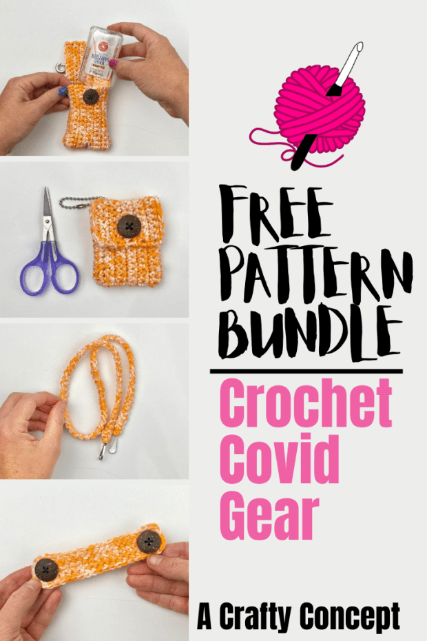Here are 4 super quick and easy crochet covid gear patterns to help you get through this pandemic and use your skills to help folks feel safe.