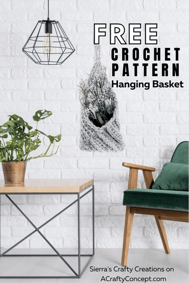 Learn how to make a functional and stylish crochet hanging basket that's perfect for organizing your home in 2021!