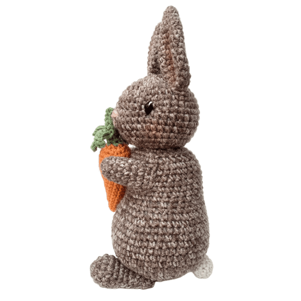 Learn how to make this adorable Amigurumi Bunny by following this simple, free crochet pattern. The perfect crochet pattern for spring!