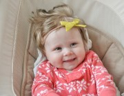 bow hand tied baby hair