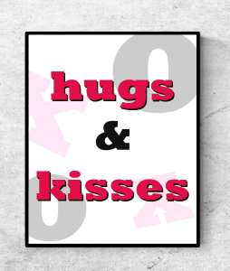 Free Valentine Printable Hugs And Kissess Printable A