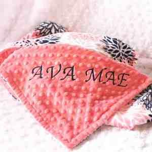 Name baby blanket