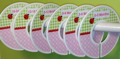 Ladybug closet dividers - ladybug nursery