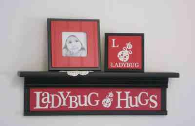 Ladybug Shelf - Ladybug Nursery