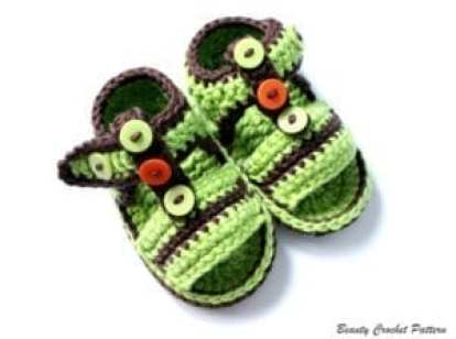 baby sandal - baby shoes crochet pattern - baby gift