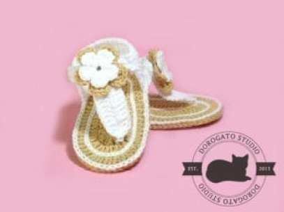 gladitor baby sandal - baby shoes crochet pattern - baby gift