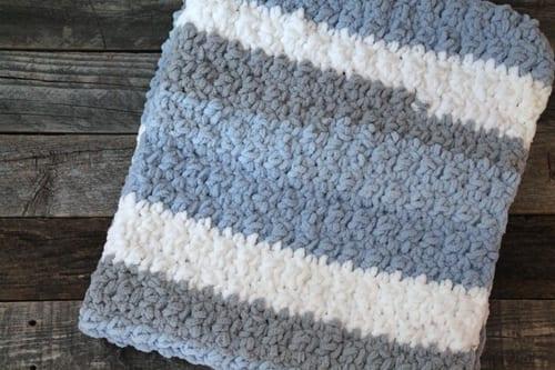 crochet baby boy blanket pattern - acraftylife.com- baby afghan -crochet pattern #baby #crochet #crochetpattern #freecrochetpattern
