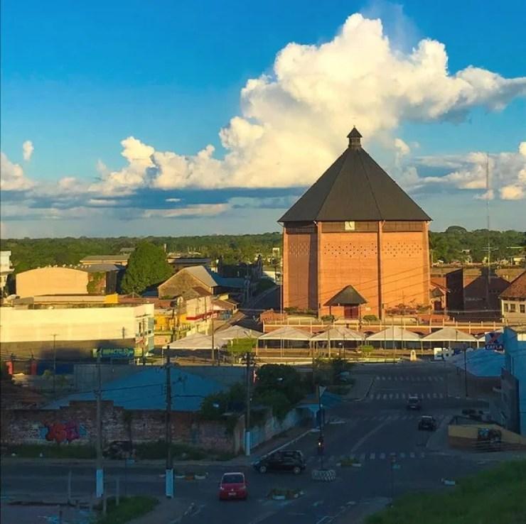 Catedral Nossa Senhora da Glória, no Centro de Cruzeiro do Sul — Foto Wesley Morais Arquivo pessoal
