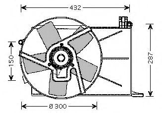 JDEUS Ventilador refrigeracion del motor OPEL Combo 1.7 D
