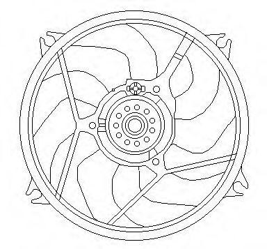 JDEUS Ventilador refrigeracion del motor CITROEN Xsara