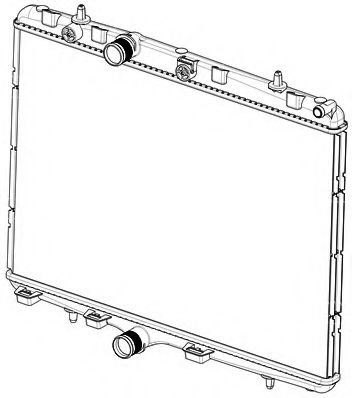 JDEUS Radiador refrigeracion del motor CITROEN C4 Picasso