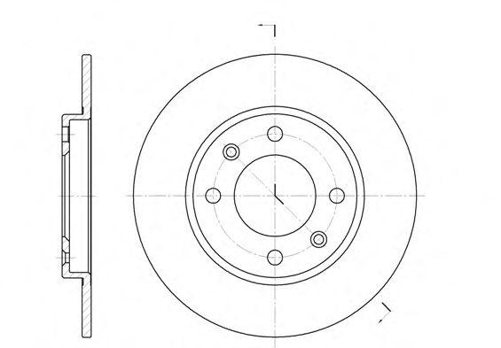 Kit (2) Discos de Freno CITROEN Xsara Picasso 1.8i 16V