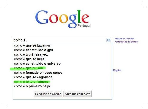 Pergunta feita ao Google