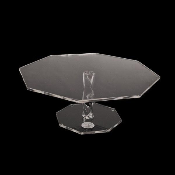 pastelera octagonal de acrílico