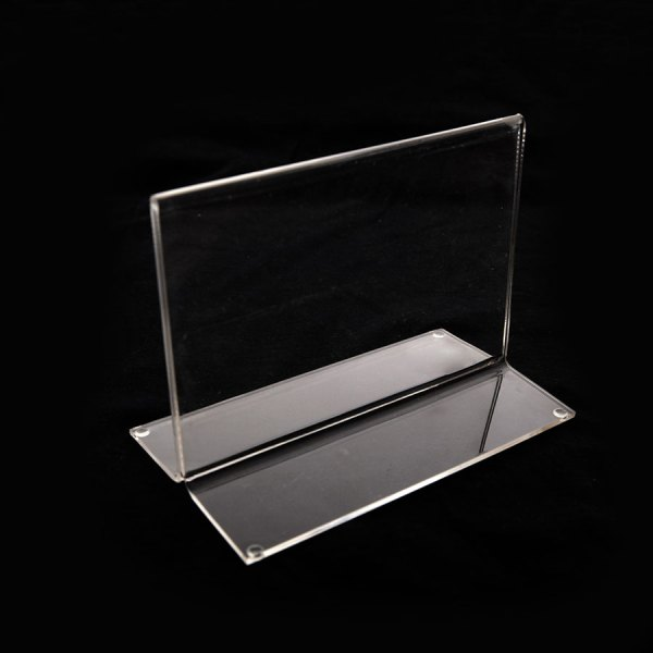 Porta hojas en acrílico tamaño 5x7 Horizontal para escritorio