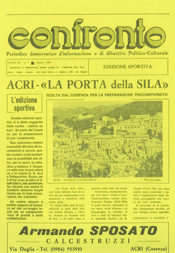 Confronto n°7 del 1983
