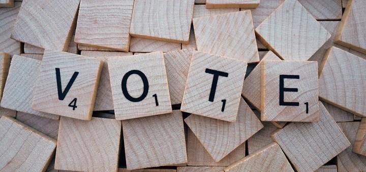 vote scrabble tiles