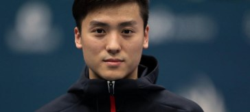 Chinese trampolinist Dong Dong