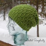 """""""Winter Waves"""" Reversible Beanie and Slouch by A Crocheted Simplicity"""