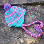 """""""Perfectly Plaid"""" Beanie & Earflap by A Crocheted Simplicity"""