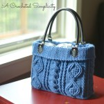 """Totally Textured"" Cabled Bag Crochet Pattern by A Crocheted Simplicity"