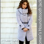 Crochet Pattern: Women's Houndstooth Jacket by A Crocheted Simplicity
