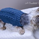 Free Charity Crochet Pattern Cabled Dog Sweater A Crocheted Simplicity