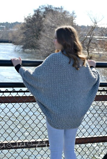 Crochet Pattern - Celesse Cabled Cocoon Sweater by A Crocheted Simplicity