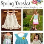 16 Cute & Carefree Spring Dresses for Girls - A Crochet Pattern Round-Up by A Crocheted Simplicity