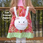 Free Crochet Pattern - Pipsqueak Bunny Bag by A Crocheted Simplicity - Pattern includes full face photo tutorial