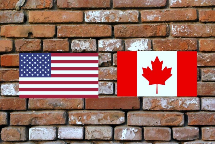 brick-wall-flags
