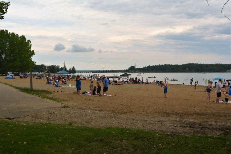 Wabamun Lake Beach