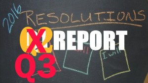 2016 Resolutions – Q3 Report