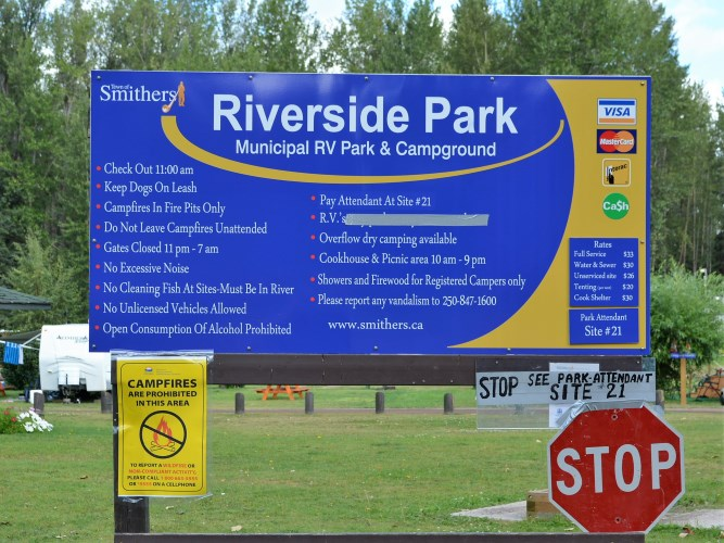 Riverside RV Park - Smithers BC - review