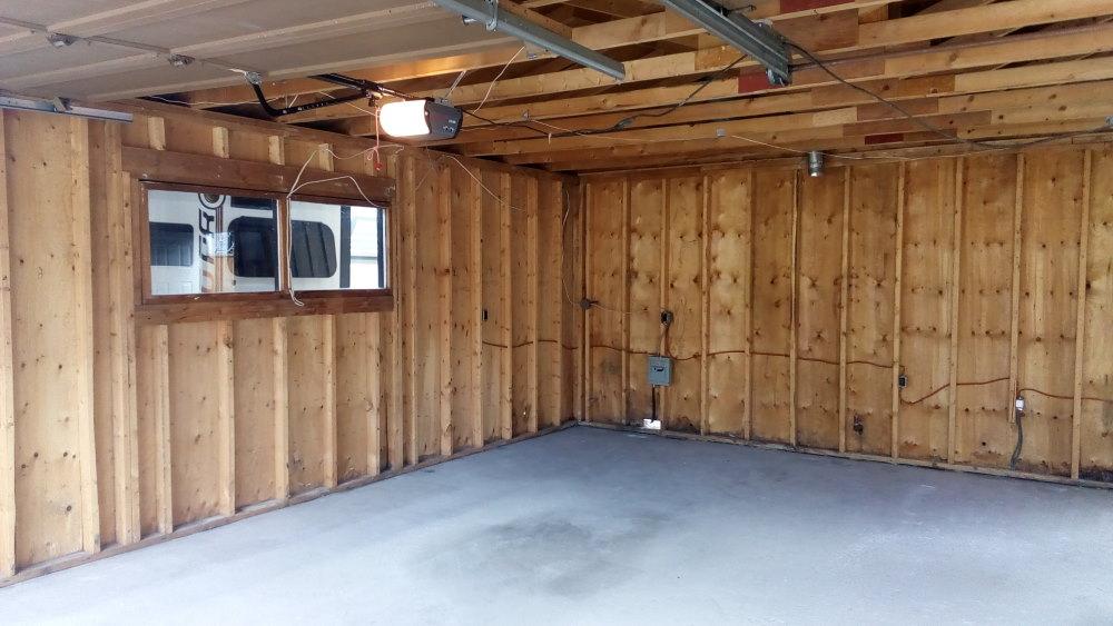 Gutted garage