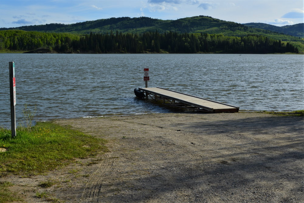 Boat launch and small floating dock