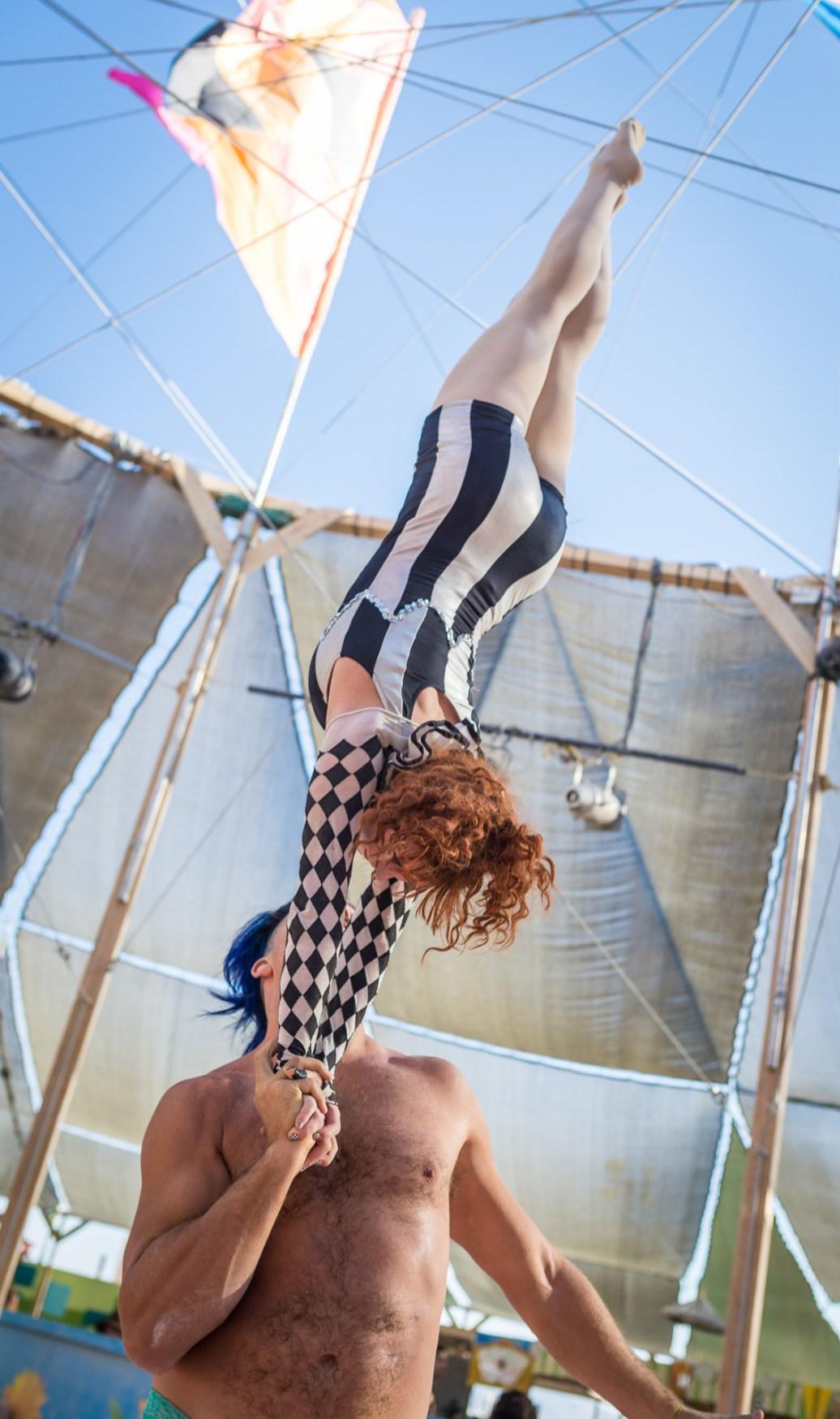 Knot pose at Burning Man 2015