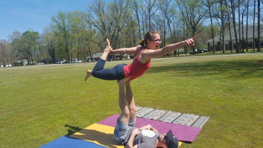 Perfect day for acro in the park with friends. 12476392_1146090118743764_1132335048_n