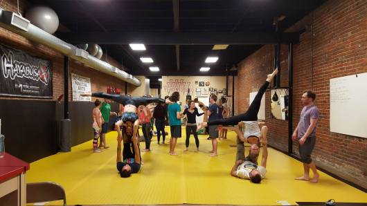 Tons of acro and fun this weekend as we hosted the Heartland Acro Jam here in Conway! 12837264_11392