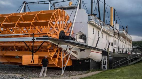 Mit diesem Schaufelraddampfer wurden Passagiere und Fracht von Whitehorse nach Dawson City transportiert.
