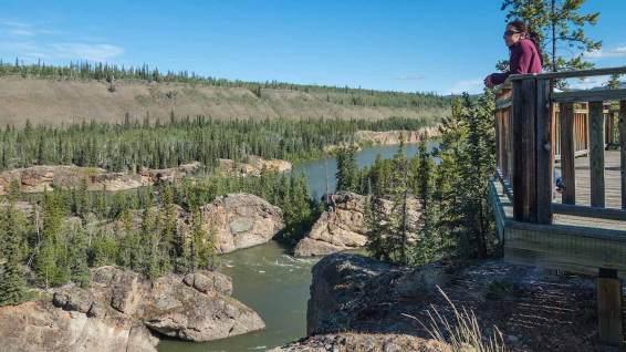 Five Finger Rapids: bei diesen Stromschnellen endeten einige Träume der Goldsucher, die über den Flussweg nach Dawson City gelangen wollten.