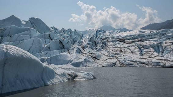 Matanuska Glacier. Finde den Eiskletterer.