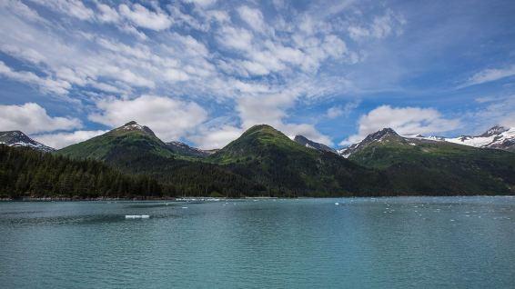 Gletschermeer in Alaska.