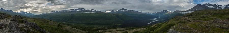 Auf dem Thompson Pass in Alaska.
