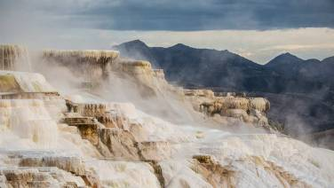Mammoth Hot Springs Terraces im Yellowstone.
