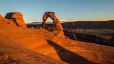 Sonnenuntergang beim Delicate Arch.