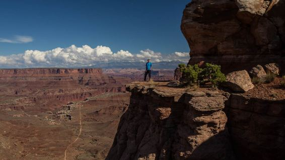 Wir werden ganz klein in dieser grandiosen Landschaft.